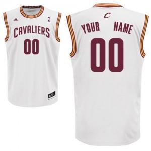 Maillot NBA Swingman Personnalisé Cleveland Cavaliers Home Blanc - Homme