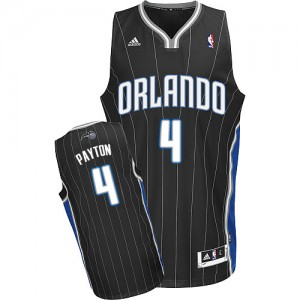 Maillot NBA Orlando Magic #4 Elfrid Payton Noir Adidas Swingman Alternate - Homme