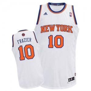 New York Knicks Walt Frazier #10 Home Swingman Maillot d'équipe de NBA - Blanc pour Homme