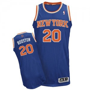 Maillot NBA Bleu royal Allan Houston #20 New York Knicks Road Authentic Homme Adidas