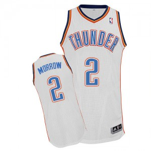 Maillot NBA Blanc Anthony Morrow #2 Oklahoma City Thunder Home Authentic Homme Adidas