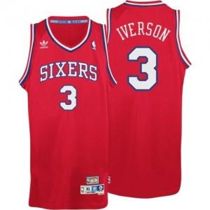 Maillot Swingman Philadelphia 76ers NBA Throwack Rouge - #3 Allen Iverson - Homme