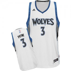 Maillot NBA Minnesota Timberwolves #3 Adreian Payne Blanc Adidas Swingman Home - Homme
