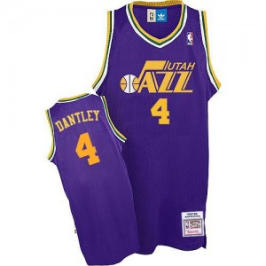 Maillot Adidas Violet Throwback Authentic Utah Jazz - Adrian Dantley #4 - Homme