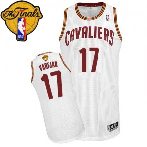 Maillot NBA Blanc Anderson Varejao #17 Cleveland Cavaliers Home 2015 The Finals Patch Authentic Homme Adidas