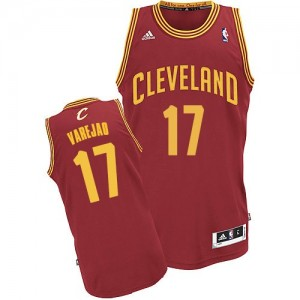 Maillot Adidas Vin Rouge Road Swingman Cleveland Cavaliers - Anderson Varejao #17 - Homme