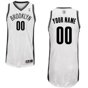 Brooklyn Nets Personnalisé Adidas Home Blanc Maillot d'équipe de NBA Prix d'usine - Authentic pour Enfants