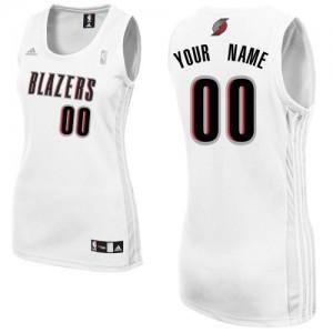 Maillot NBA Portland Trail Blazers Personnalisé Swingman Blanc Adidas Home - Femme