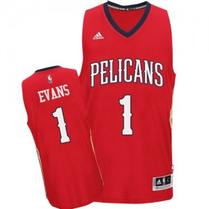 Maillot Authentic New Orleans Pelicans NBA Alternate Rouge - #1 Tyreke Evans - Homme