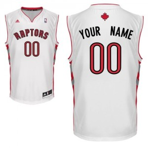 Maillot Toronto Raptors NBA Home Blanc - Personnalisé Swingman - Enfants