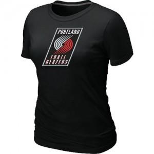T-shirt principal de logo Portland Trail Blazers NBA Big & Tall Noir - Femme