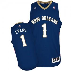 Maillot NBA Bleu marin Tyreke Evans #1 New Orleans Pelicans Road Swingman Homme Adidas