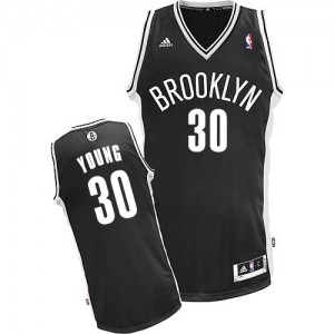Maillot NBA Swingman Thaddeus Young #30 Brooklyn Nets Road Noir - Enfants