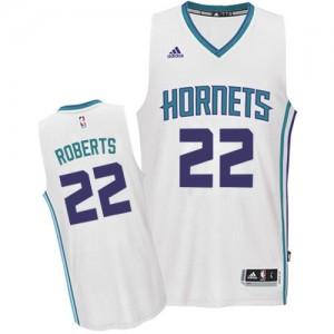 Charlotte Hornets Brian Roberts #22 Home Swingman Maillot d'équipe de NBA - Blanc pour Homme