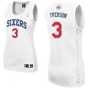 Maillot Adidas Blanc Home Authentic Philadelphia 76ers - Allen Iverson #3 - Femme