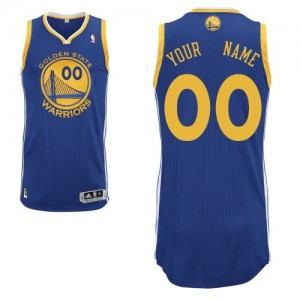 Golden State Warriors Authentic Personnalisé Road Maillot d'équipe de NBA - Bleu royal pour Homme